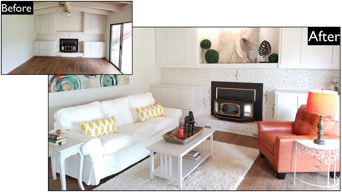 Chico Home Staging Before & After